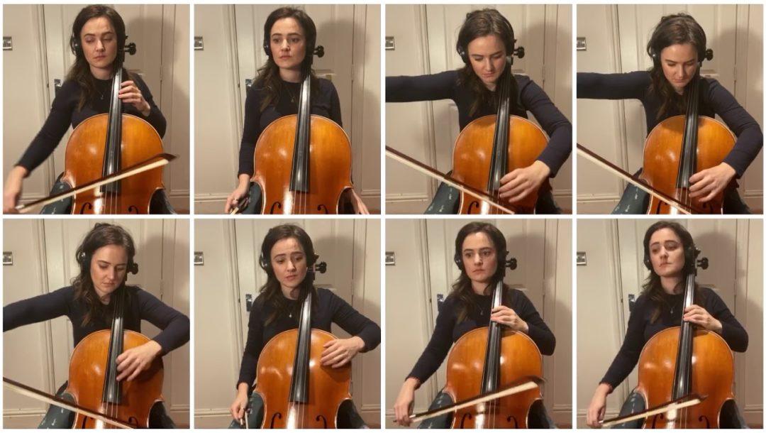Inspector Gadget von einer Person auf dem Cello gespielt
