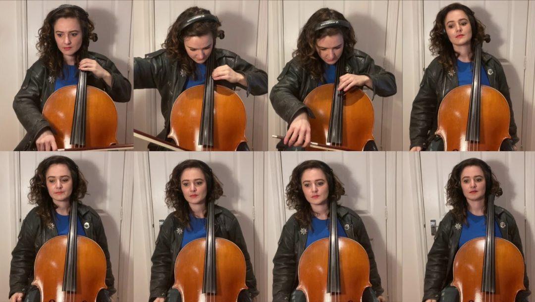 Knight Rider auf einem Cello