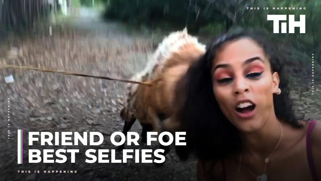 Witzige Selfies