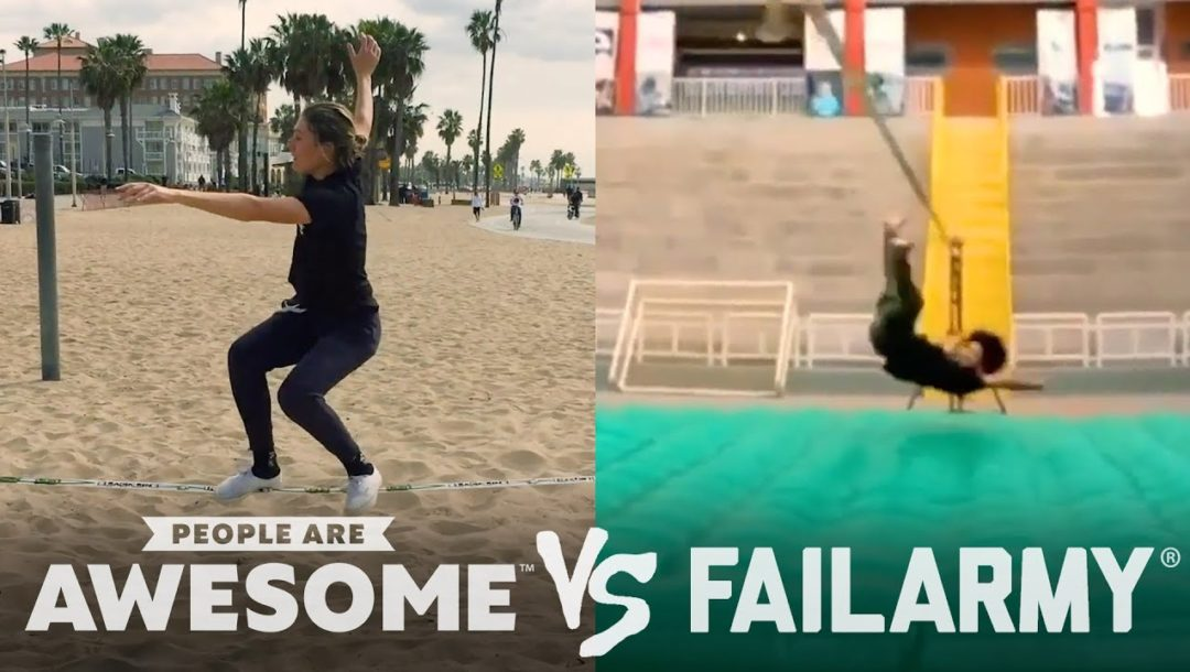 Wins & Fails on the Basketball Court, Pogo Stick, Slackline & More