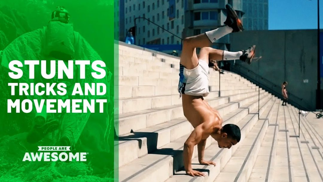 Stunts in Parkour, Ramp Flips, Street Skateboarding & More